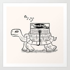 Tortoise Wax Art Print