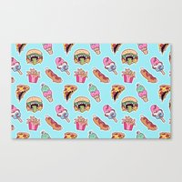 junk food Canvas Prints featuring junk food by Kenzie Tsang