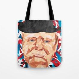 Portrait of Sir Winston Churchill Tote Bag