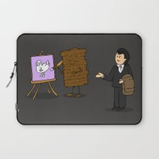 drawing of a guy confused about what wall art is Laptop Sleeve