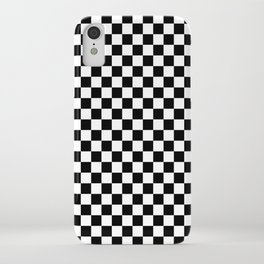 Small Checkered - White and Black iPhone Case