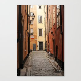 Stockholm Alley Canvas Print