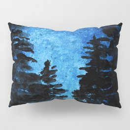 Blue Sky - Evergreen Trees Pillow Sham