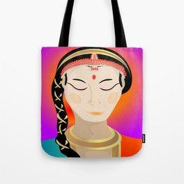 Tamil Indian Dancer (close up) Tote Bag