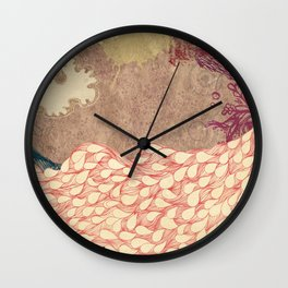 The Red Peacock Wall Clock