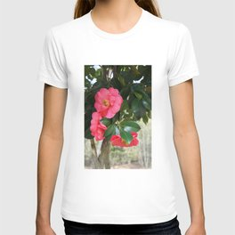 camellia flower T-shirt