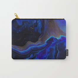 Dark Blue Midnight Waves Carry-All Pouch