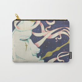 Moon Smoke Mixed Media Carry-All Pouch