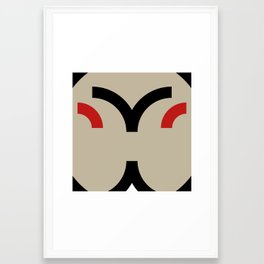 face 8 Framed Art Print
