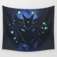 transformers Wall Tapestries featuring Grunge Transformers: Decepticons by Sitchko Igor
