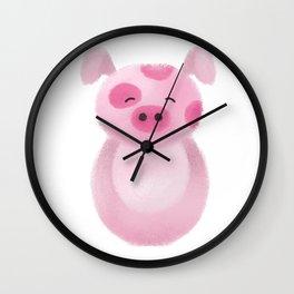 Pig Nursery Art Wall Clock