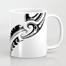 Tribal Warrior Pattern - Traditional Polynesian motif Coffee Mug