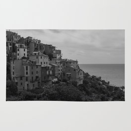 Cinque Terre black and white Rug