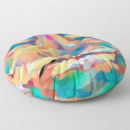 Abstract Rainbow Camouflage I Floor Pillow