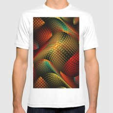 Bed of Snakes MEDIUM Mens Fitted Tee White