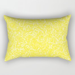 Chaotic white tangled ropes and yellow pastel lines. Rectangular Pillow