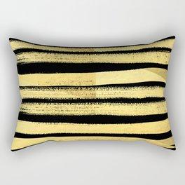 Sochie - black gold minimal black and white modern retro bold dramatic cell phone iphone case trendy Rectangular Pillow