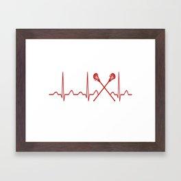 LACROSSE HEARTBEAT Framed Art Print