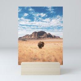 The Lonely Bison, Salt Lake City, Utah-Desert Landscape Mini Art Print