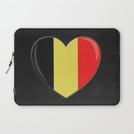Heart Goes to Belgium Laptop Sleeve