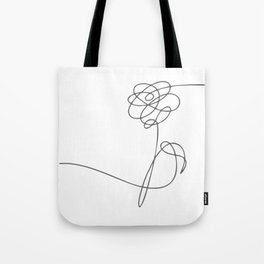 BTS Love Yourself Flower Lineart Tote Bag