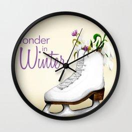 Wonder in Winter Wall Clock