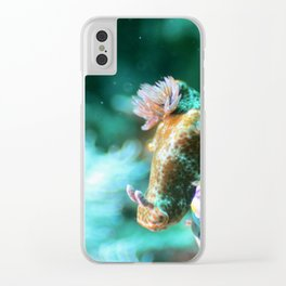 Ethereal nudibranch Clear iPhone Case