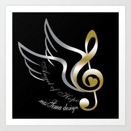 Angel of Hope Wings Art Print