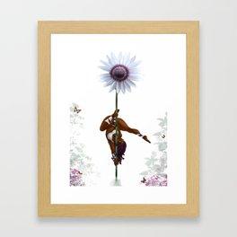 Purple Dancing Daisy Framed Art Print