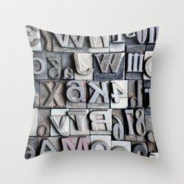 Letterpress Throw Pillow