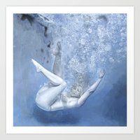 kozyndan Art Prints featuring Succumb by kozyndan