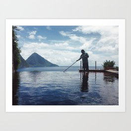 The View of St Lucia Art Print