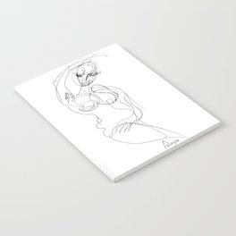 Pose of a woman - naive Notebook