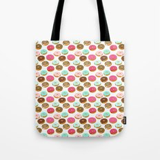 Donuts art print junk food pattern design kids minimal modern kitchen baking breakfast hipster baker Tote Bag