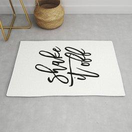 Home Decor Instant Download Digital File Motivational Shake It Off Printable Art Print Quote Rug