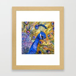 Prince Peacock Framed Art Print