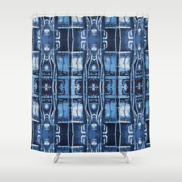 Cyanotype Tokyo Pipes  Shower Curtain
