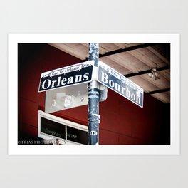 Bourbon and Orleans Art Print