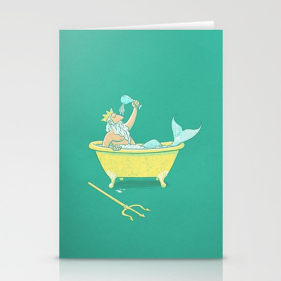 Wireless Shower Head Stationery Cards