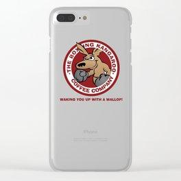 Boxing Kangaroo Coffee Company Clear iPhone Case