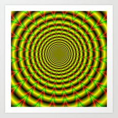 Pulse in Red Yellow and Green Art Print