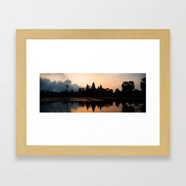 Angkor Wat sunrise - panorama Framed Art Print