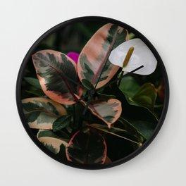 Peace Lily Wall Clock