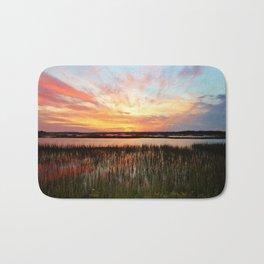 Sunset And Reflections Bath Mat