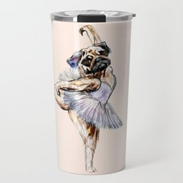 Pug Ballerina in Dog Ballet | Swan Lake  Travel Mug