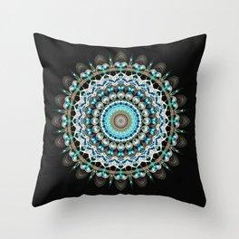 Mandala antique jewelry Throw Pillow