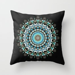 Mandala antique jewelry Throw Pillow
