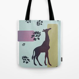 Giraffe and objects Tote Bag