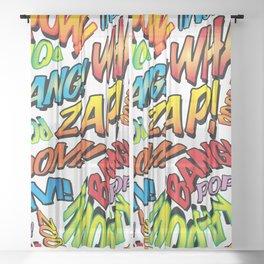 Comic Book Sounds Sheer Curtain