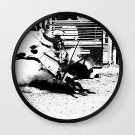 Bull Riding Champ Wall Clock